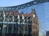 die offene Glas-Stahlkonstruktion