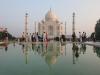Taj Mahal bei Sonnenaufgang in Agra