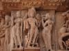Sandsteinskulpturen am Lakshmana Tempel