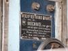 Fabrikationsschild der modifizierten Handbremse