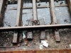 undenkbar bei DB Netz, unkonventionell in Indien, zwei Behelfsschwellen
