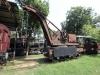 handbetriebener Kran von 1883 bedient von sechs Personen, er hob 15 Tonnen