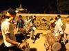 Trommler auf dem Durga Puja zu Ehren der Göttin Durga