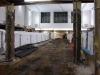 der alte Fußboden in der Bahnhofshalle wurde entfernt