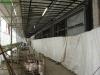 die Fassadenelemente für die Verglasung am Westflügel nehmen langsam Gestalt an