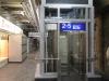 der Aufzug zu den Gleisen 2 bis 5 wird bereits genutzt