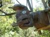 von Maori geschnitzte Figuren...
