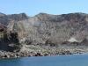 der Krater vom Boot aus