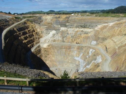 die Goldmine in Waihi
