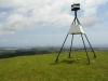 den Gipfel erreicht, im Hintergrund Tauranga mit dem Mount