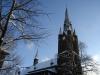 die Kirche der katholischen Gemeinde