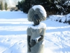 schneebedeckt sind Skulptur...
