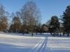eingeschneite Schienen der Parkbahn