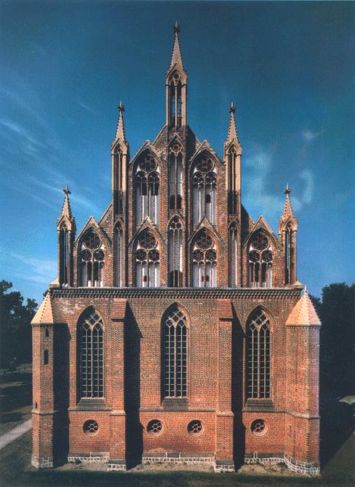 Ostgiebel der Marienkirche