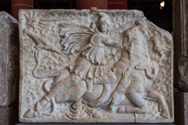 Kultrelief des Mithras; 2. bis 3. Jh. n. Chr.