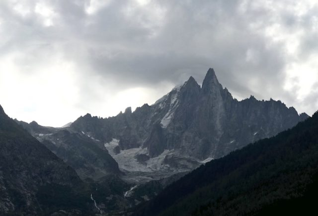 Blick auf den Aiguille du Dru