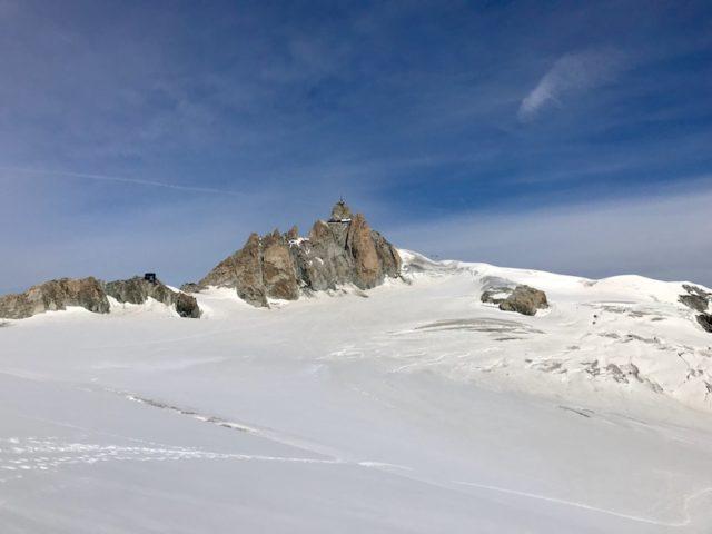 Blick zum L'Aiguille du Midi