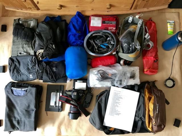 Ausrüstung für den Aufstieg auf den Mont Blanc