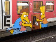 Bart und Nelson on rail