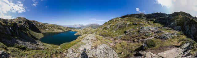 Blick auf den Lac du Brévent