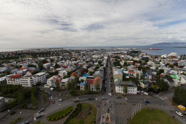 Blick über Reykjavík
