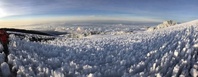 Blick zum Gletscher und Büßereis