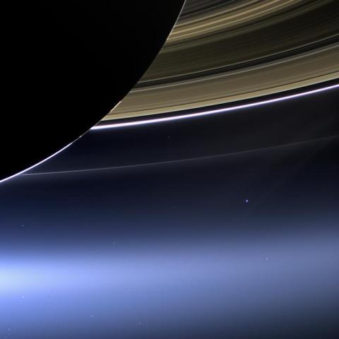 Blick zur Erde
