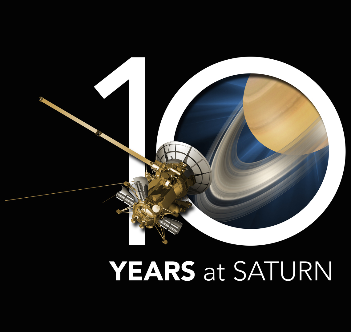 Cassini - 10 YEARS at SATURN; Quelle: NASA/JPL-Caltech