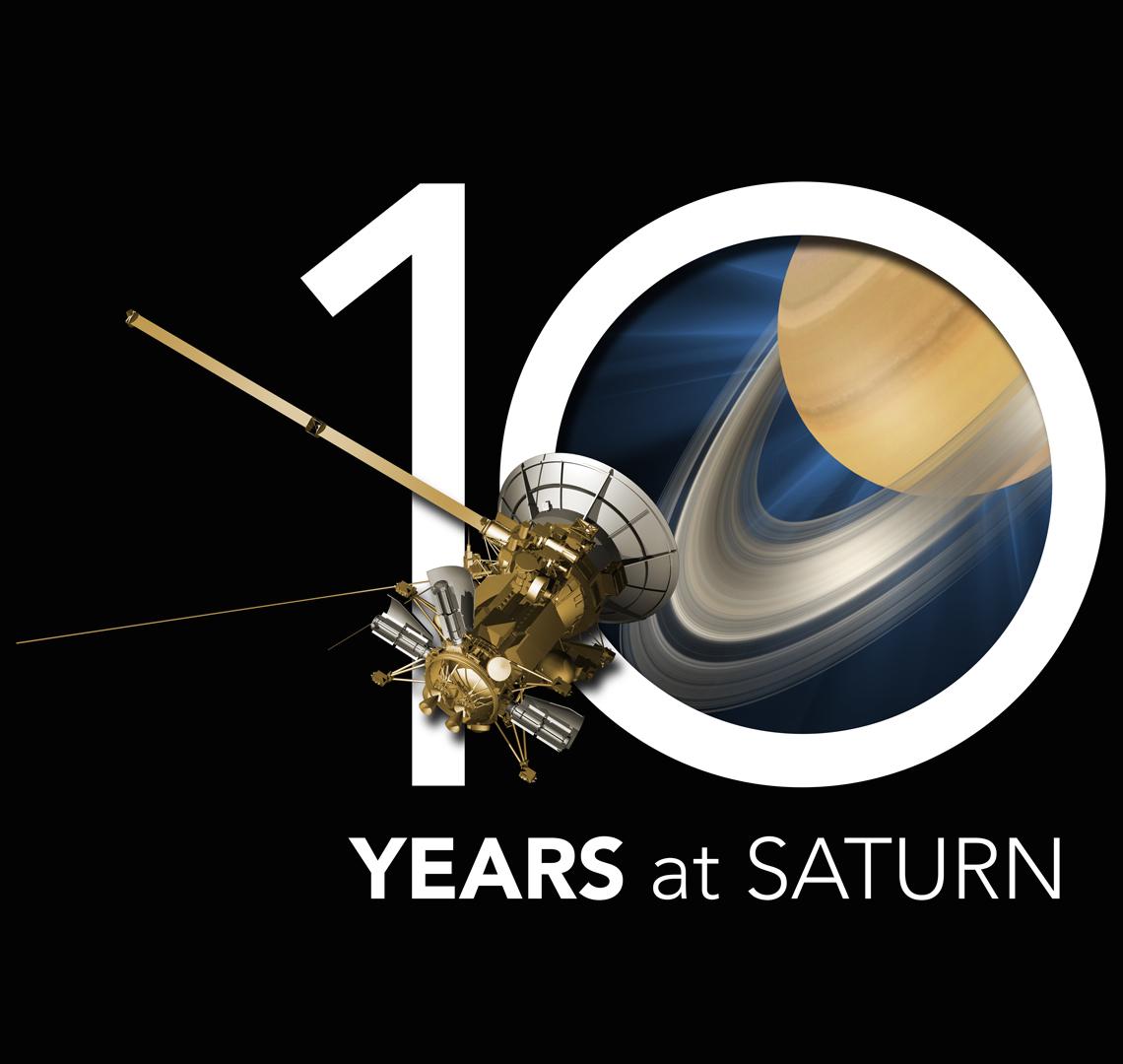 Cassini - 10 YEARS at SATURN; Quelle: NASA/JPL-Caltech