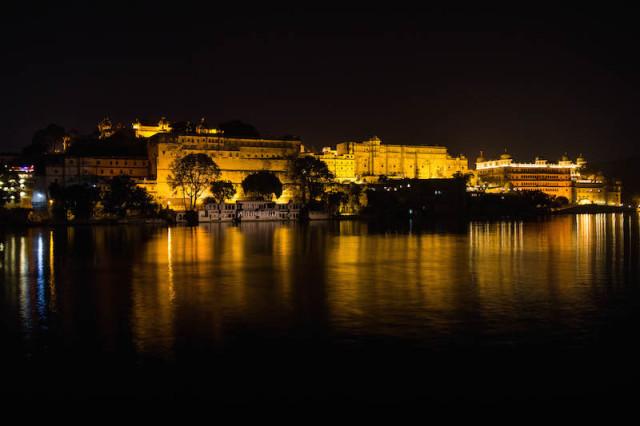 City Palace bei Nacht