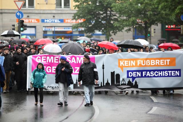 die Demo auf dem Weg in Richtung Nordstadt