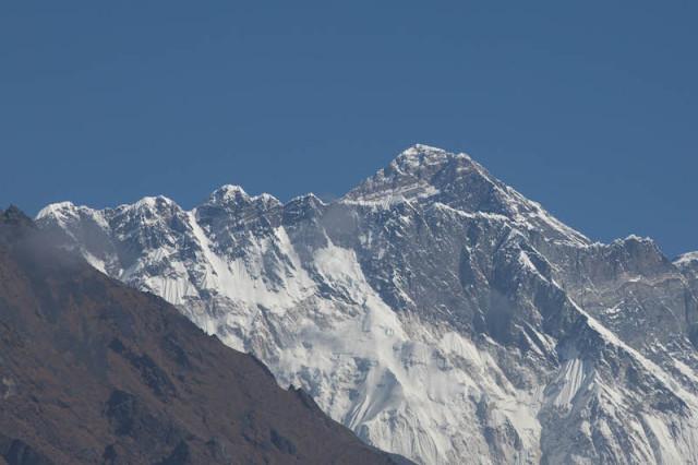 der Gipfel des Everest