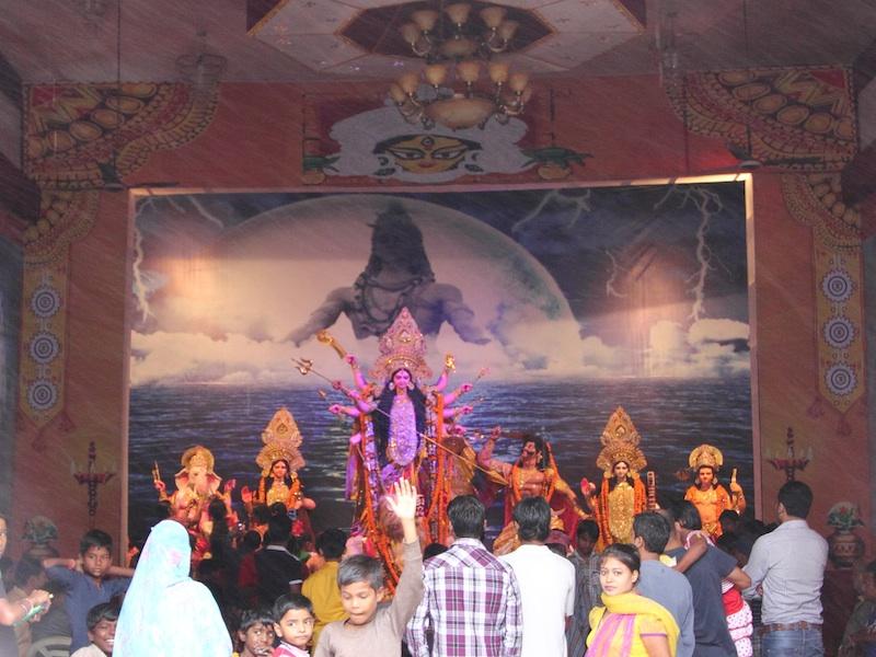 Göttin Durga und der Büffeldämon Mahisasur
