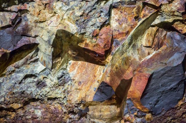 farbige Steinformation