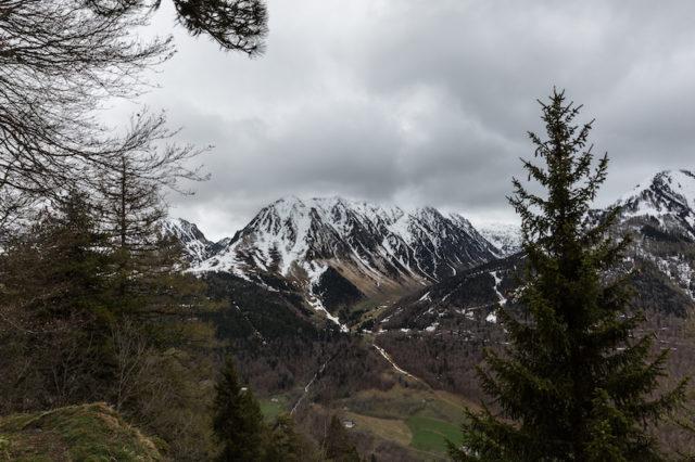 verschneite Gipfel