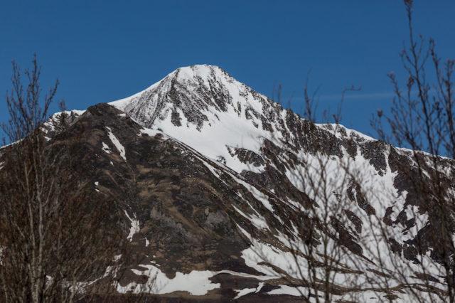 verschneiter Gipfel