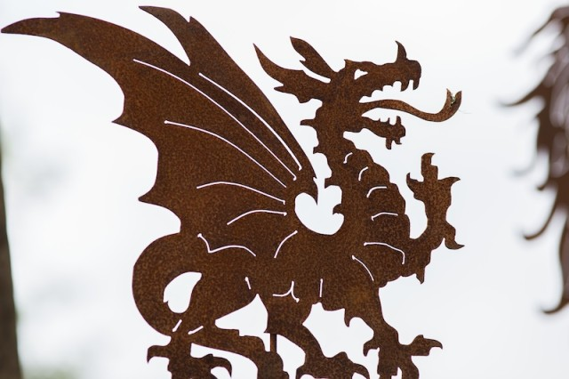 rostikaler Drachen