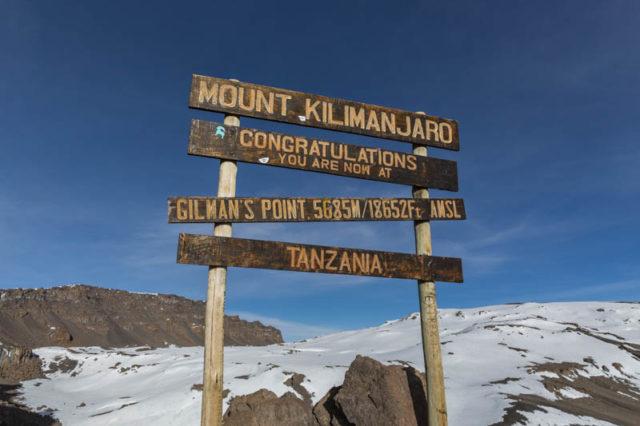 Gilman's Point - 5.685 m