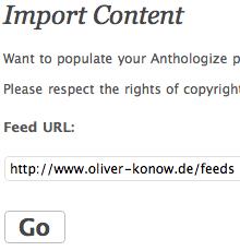 Import - Feed URL