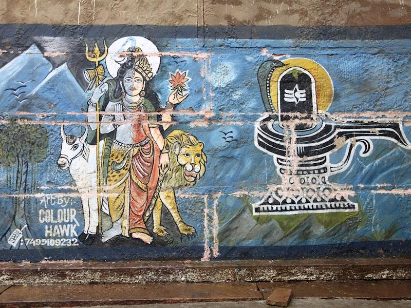 ein indisches Graffiti