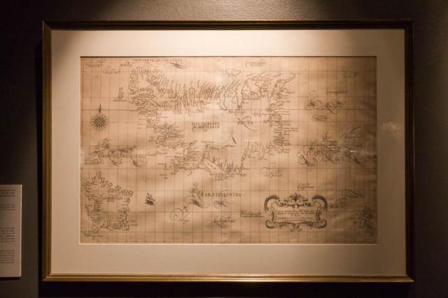 Karte von Island aus dem Jahre 1547
