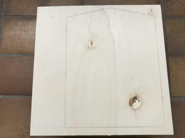 Aussägen der neuen Holzplatte