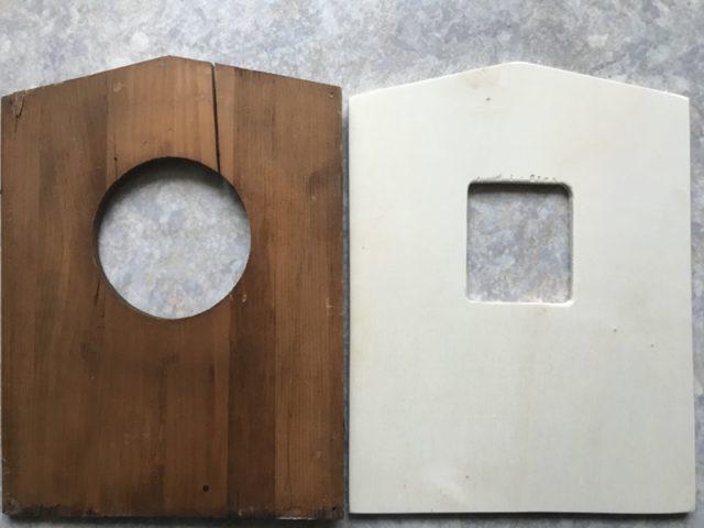 beide Holzplatten im Vergleich