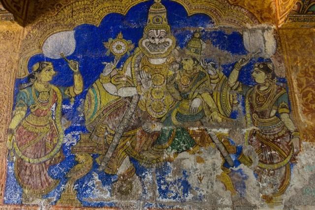 Malerei am Sri Mettuazhahiya Singar Sannithi