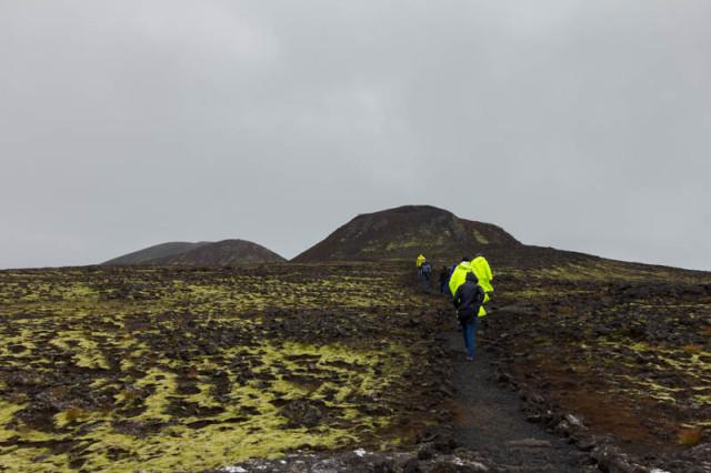 Marsch zum Krater