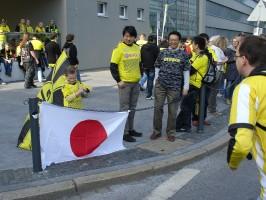 Auch japanische Fußballfans waren dabei