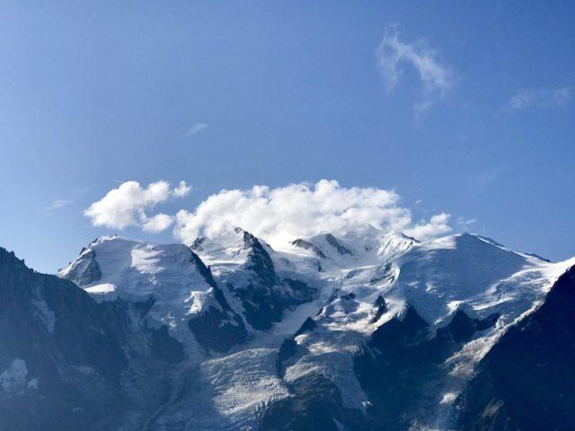 Blick auf das Mont-Blanc-Massiv