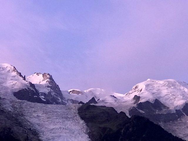 Mont Blanc im Licht der Morgensonne