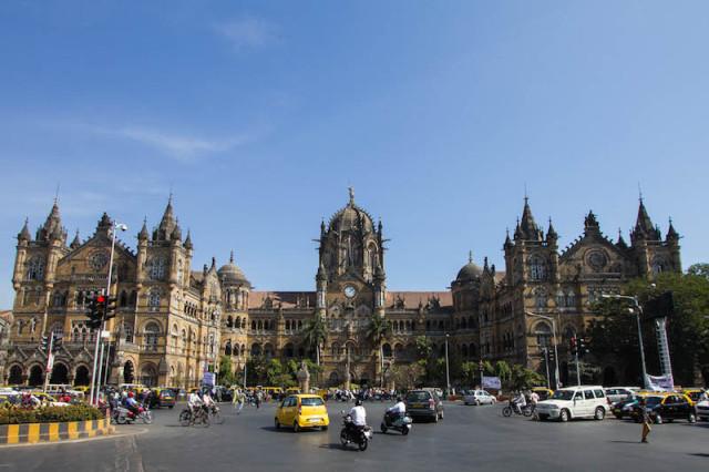 Mumbai Chattrapati Shivaji Terminus am Tag