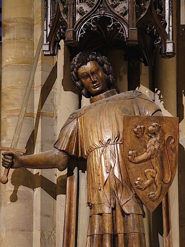 Holzskulptur des heiligen Reinold